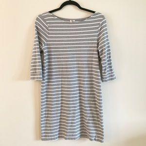 LC Lauren Conrad | Striped Stretchy T-shirt Dress